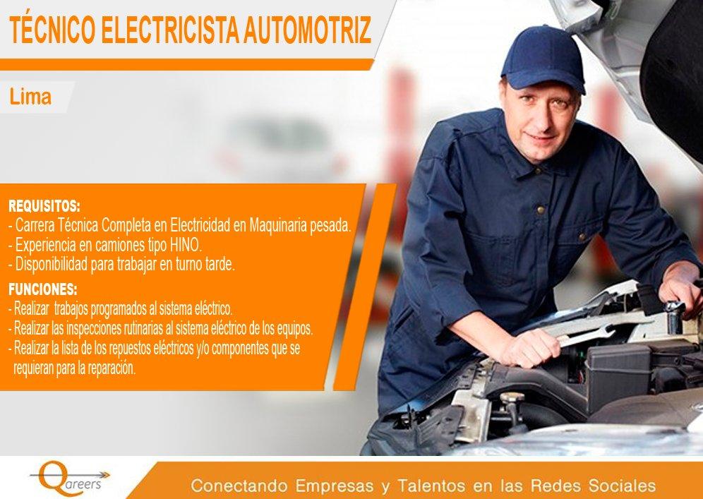 Técnico electricista funciones
