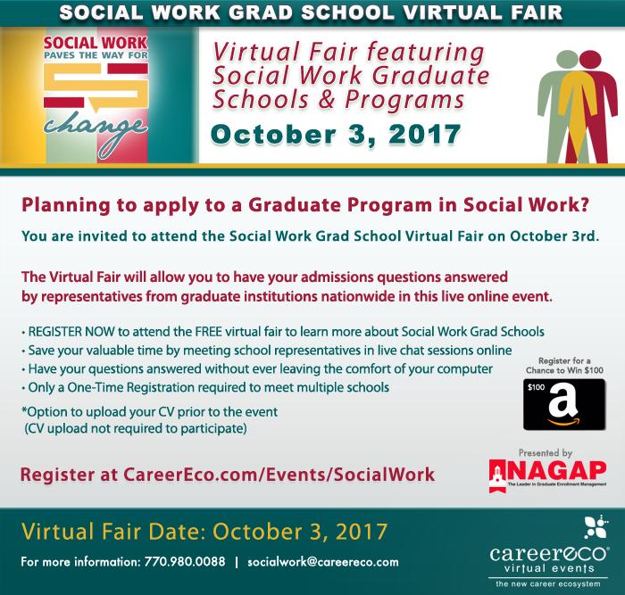 Registered for the #SocialWork #GradSchool Fair?  https://www. careereco.com/twevents/socia lwork &nbsp; …  #doctorate #socialpolicy #mentalhealth #counselor #therapy #teach<br>http://pic.twitter.com/u4xSznaVai
