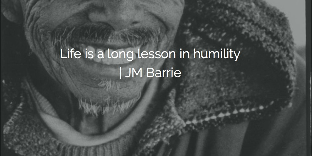 Life is a long lesson in humility | J. M. Barrie #quote #twitter<br>http://pic.twitter.com/q1nNG0PBh5