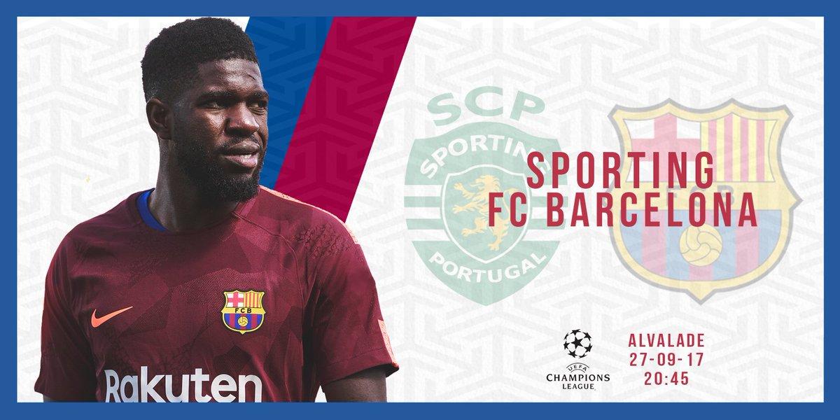 ⚽ Sporting - Barça 🏆 @ChampionsLeague #ForçaBarça