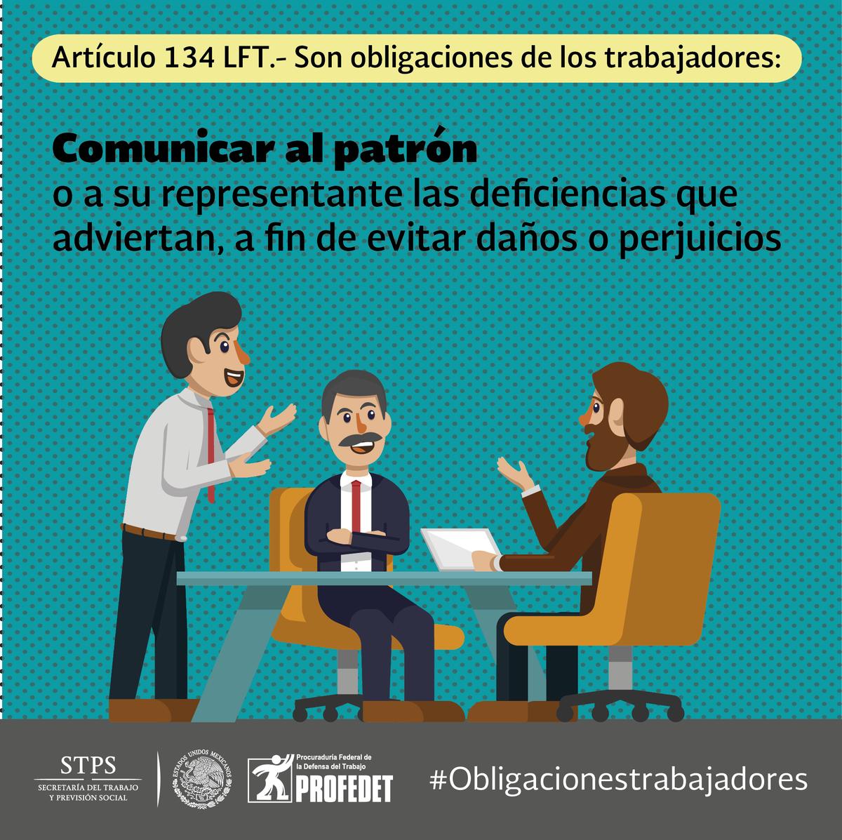 Articulo 134 Ley Federal Del Trabajo 2019