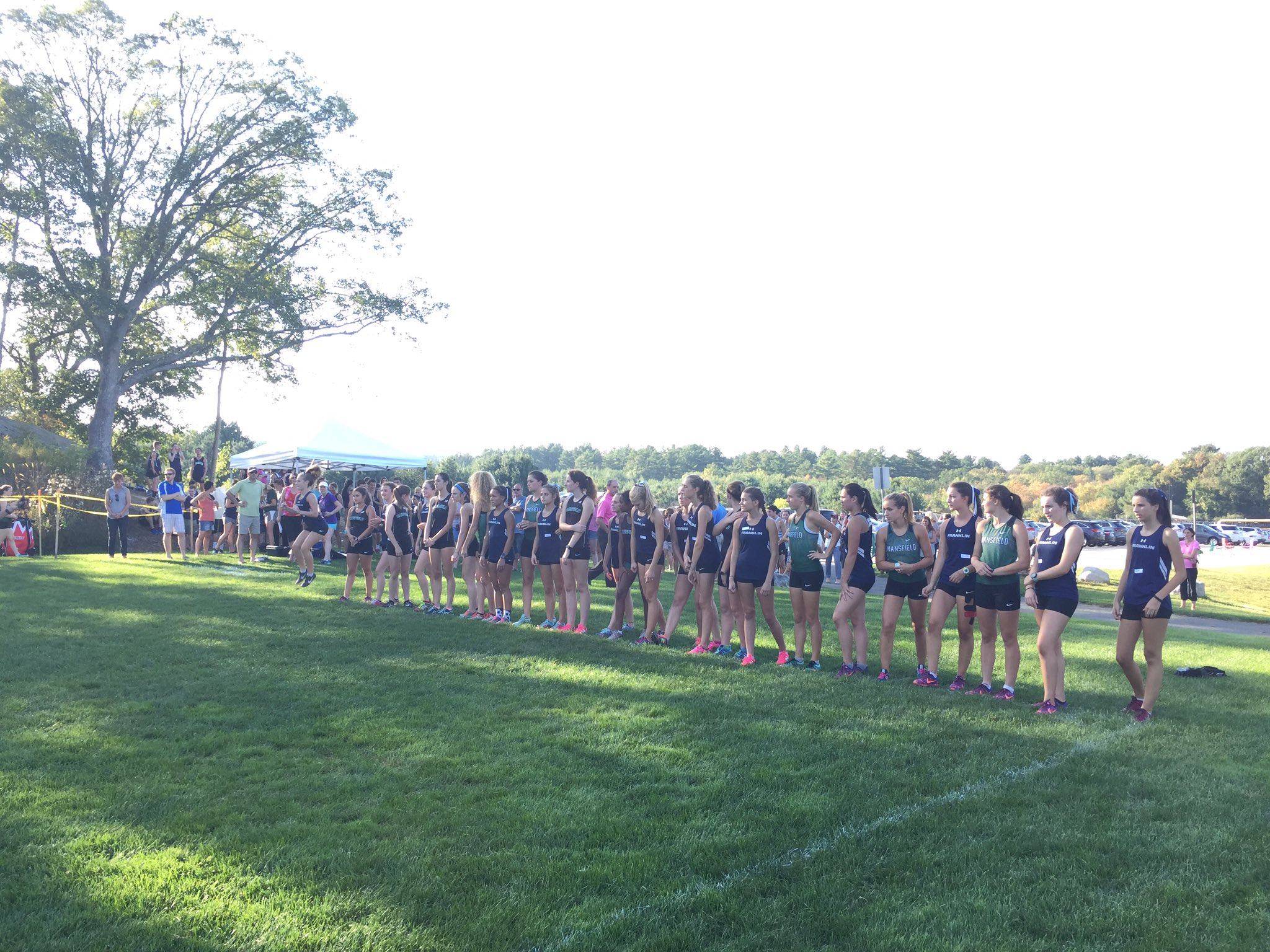 Franklin Girls XC vs. Mansfield. On your marks... Let's Go Panthers! via Twitter