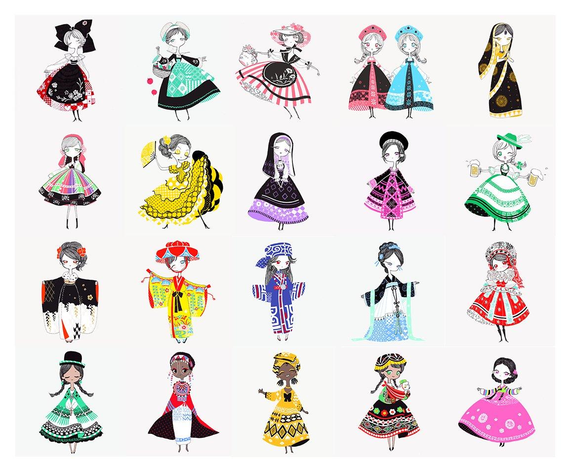 大高ポリン On Twitter 世界の民族衣装シリーズ 20着目になりました