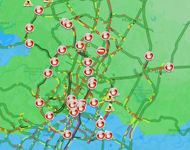 Kxan Traffic Map.Kxan Weather On Twitter Numerous Accidents Reported Across Austin
