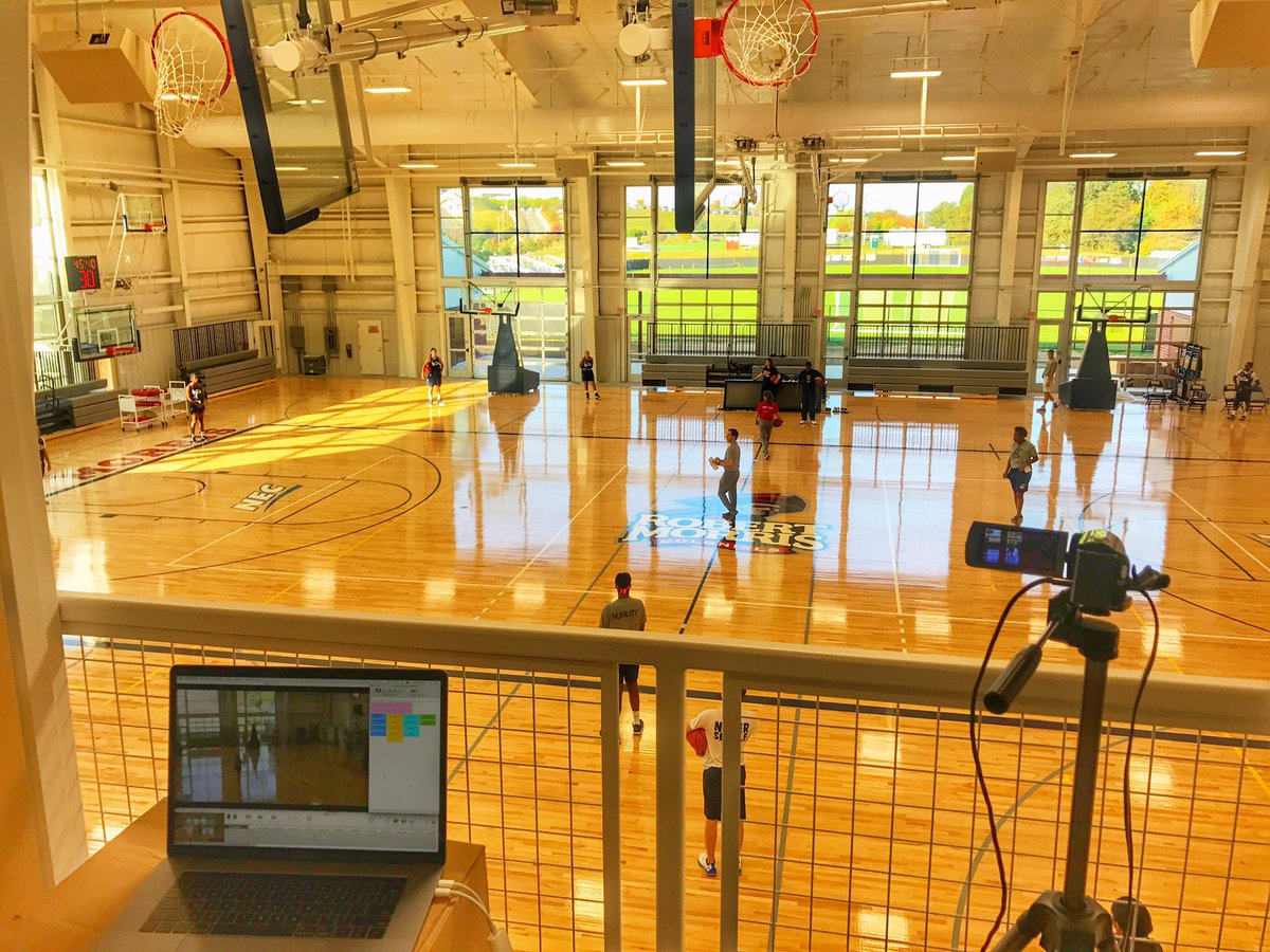 First workout in the new facility rmuwbasketball getting better every day colonialpridepic twitter com inuuvedudt at robert morris university