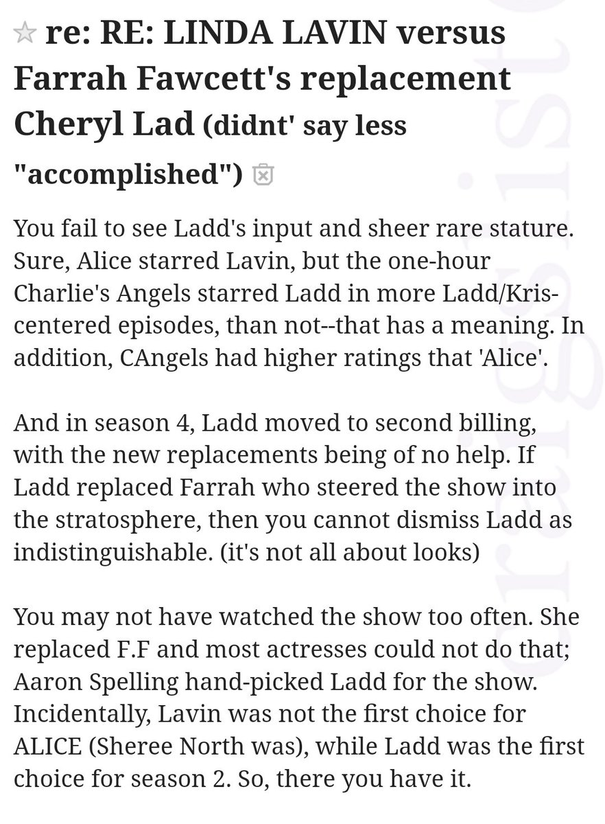 Edith Puthy On Twitter There S Currently A Linda Lavin Vs Cheryl