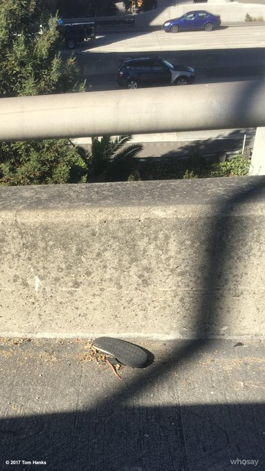 Heading to an off ramp with one flip flop takes awhile, no?  Hanx. https://t.co/vOMErroucy