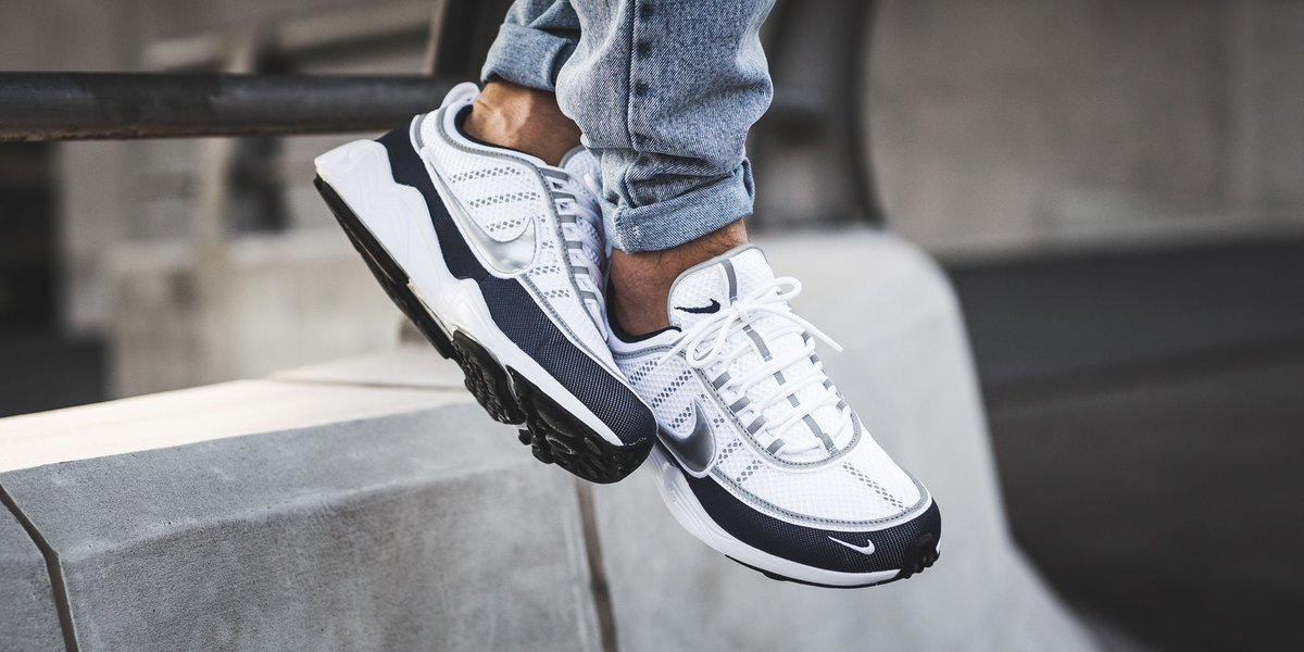 a6f8a7c6a519 NEW IN! Nike Air Zoom Spiridon  16 - White Metallic Silver-Armory Navy-Black  http   bit.ly 2fOCFA9 pic.twitter.com OWZxweSp0h