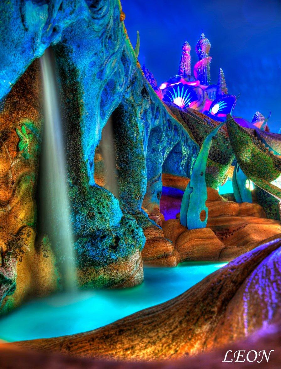 """leon on twitter: """"マーメイドラグーンの夜景はとても幻想的で大好き"""