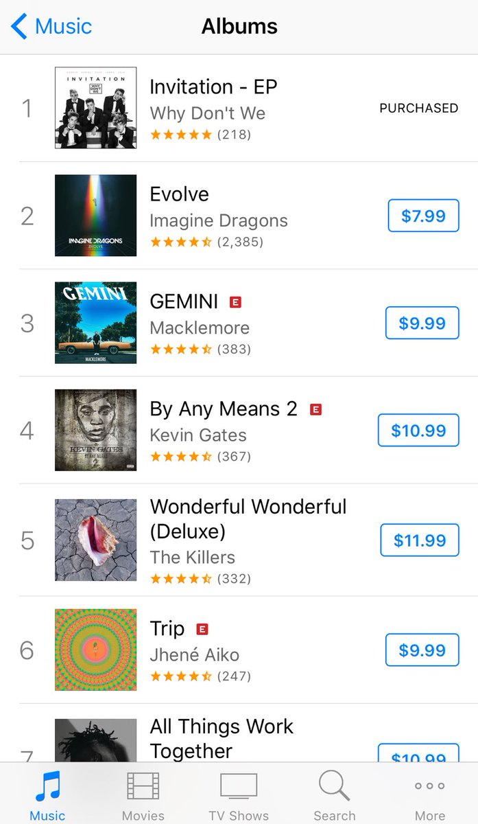 Number 1 on iTunes... we did it.