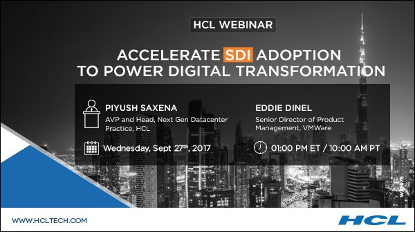 Hcl technologies on twitter discover the software defined hcl technologies on twitter discover the software defined blueprint to re invent your business attend hcl and vmwares joint webinar on sdi malvernweather Gallery