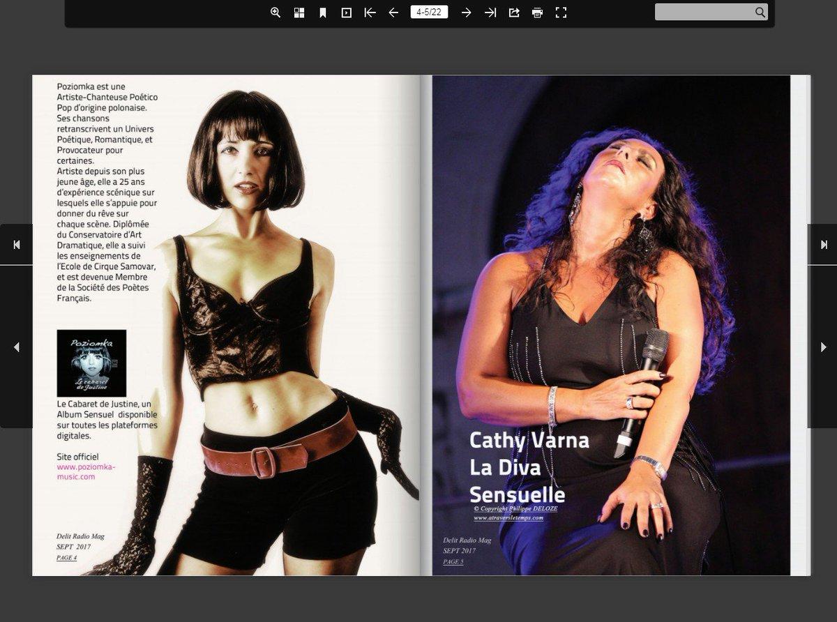 La 10ème édition du magazine 'Delit Radio '  Deux chanteuses à découvrir - Poziomka et Cathy Varna delitmusic-communication.fr