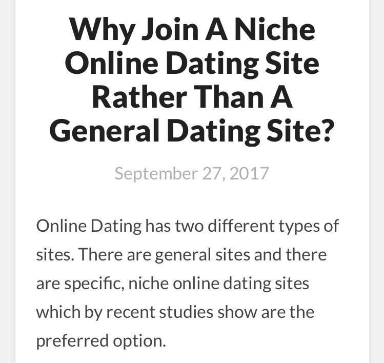 Online dating blog post