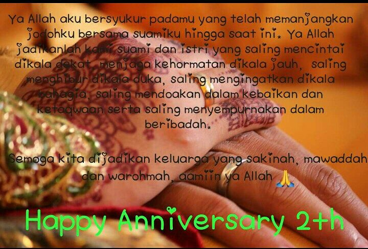Kata Kata Anniversary Pernikahan Ke 2 Tahun