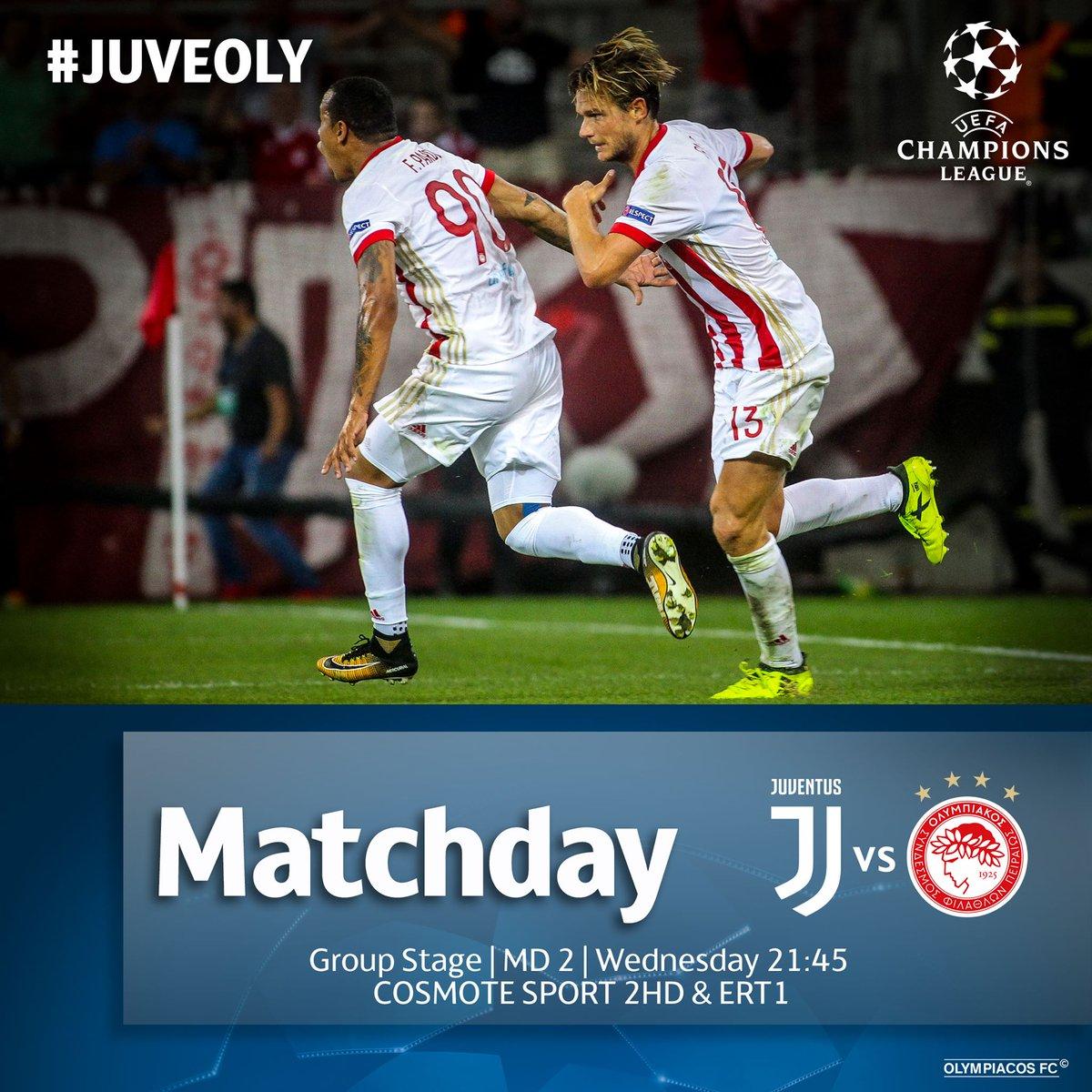Matchday  E2 9a Bd Juventusfc Vs Olympiacos Fc  F0 9f 8f 86 Championsleague  F0 9f 8f A0 Juventus Stadium  E2 8f B0 2145 Gr Time  F0 9f 93 B2 Juveoly