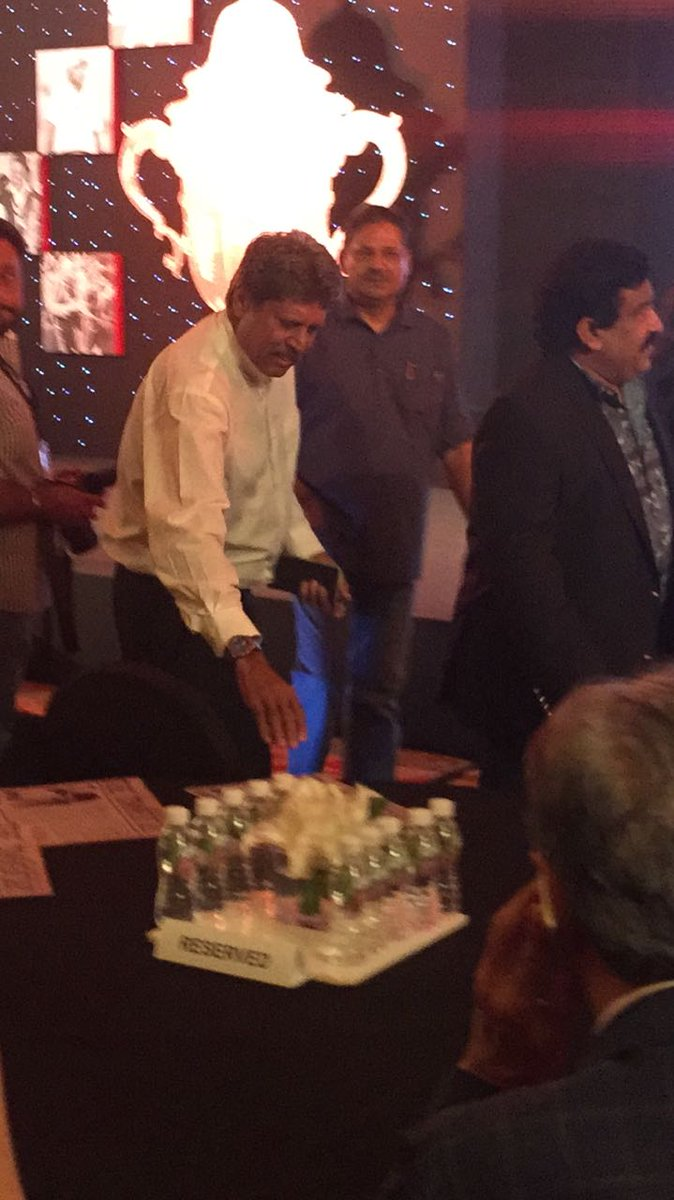.@therealkapildev arrives at the launch of #Relive83 which is based on #1983WorldCup. Stay tuned for more. <br>http://pic.twitter.com/KzeqSi4zCd