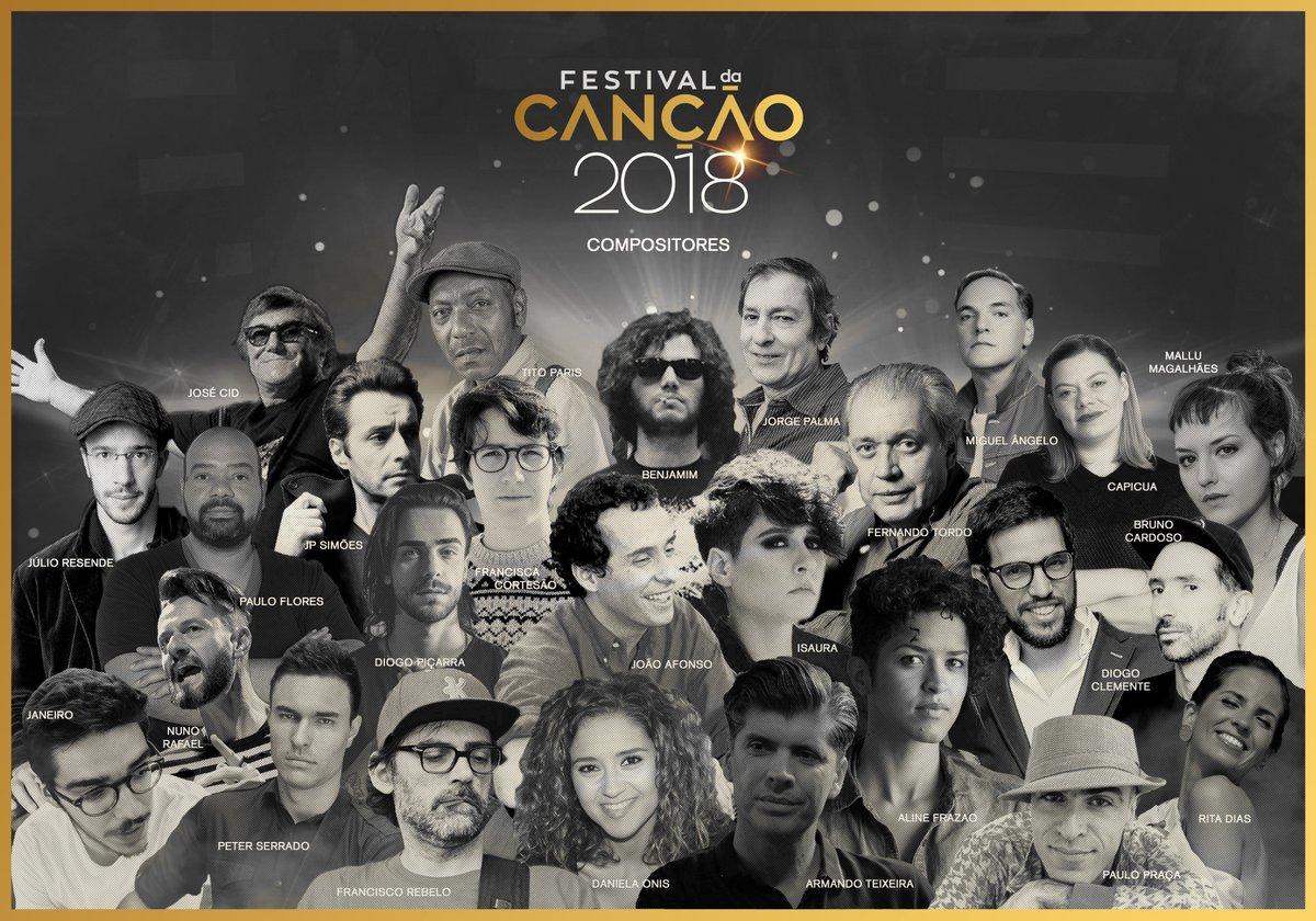 Conheça os compositores do Festival da Canção 2018 https://t.co/Re2O9gQtqV  #FestivalDaCancao #RTP