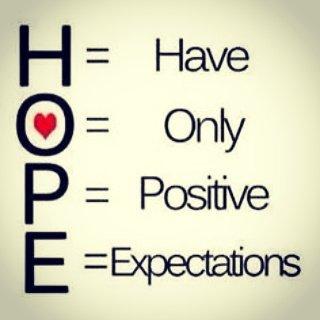 #HOPE = Have only #Positive Expectations! #JoyTrain #Joy #Love #Faith #BePositive RT @MrRileyjo