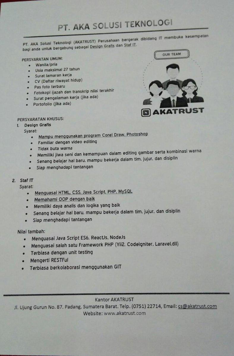 loker Area Padang
