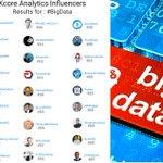 Top 100 #BigData https://t.co/B38JUSSANY @kcore_analytics 👏1 @DeepLearn007 2 @ipfconline1 3 @Fisher85M 4 @MikeQuindazzi 5 @evankirstel