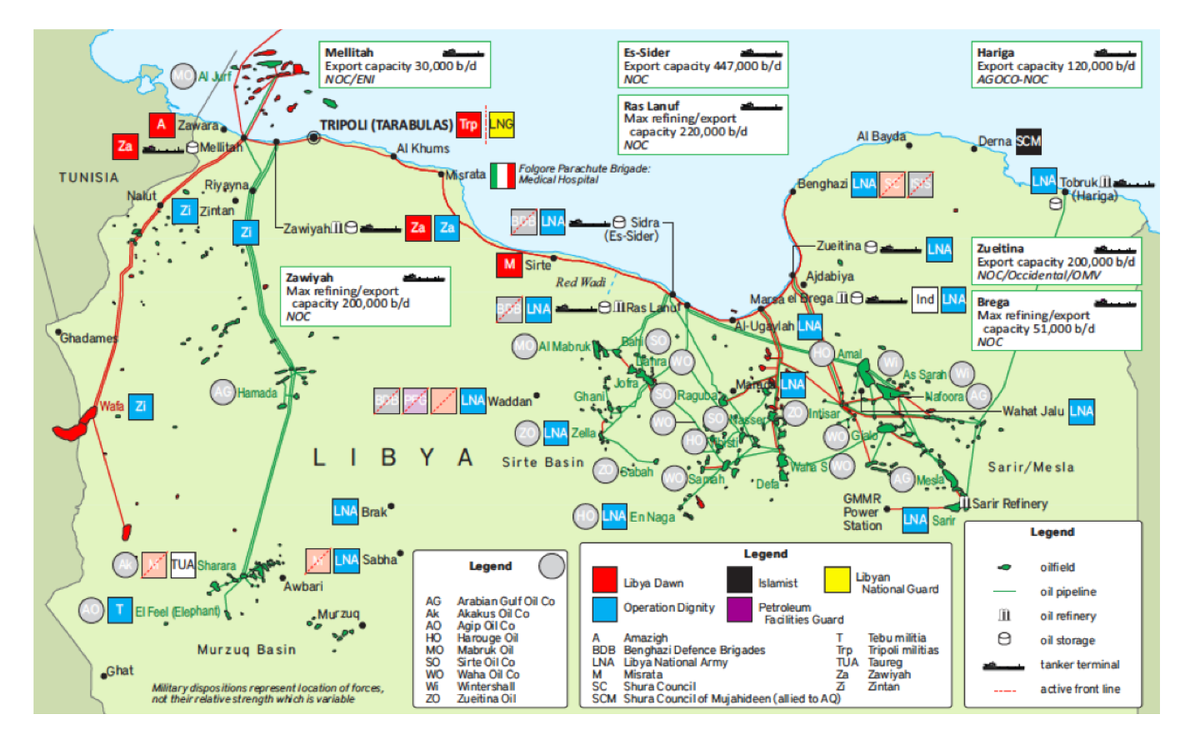 chris stephen on twitter libya libyaoil libya oilmilitary dispositions map petroleum economist