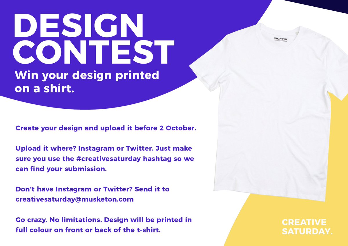 Musketon On Twitter Win Your Design Printed On A Shirt Sweater Or