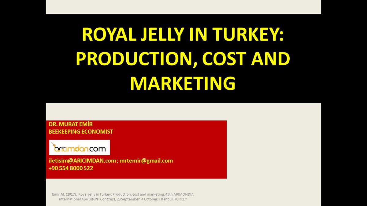 #apimondia @Apimondia2017 @apimondiabees #royaljelly #Turkey #Production #cost #Marketing @ARICIMDAN  Royal Jelly in Turkey: Production, Cost and Marketing  2 October  14:50 - 15:10  USKUDAR HALL<br>http://pic.twitter.com/JErU8nQ3rg