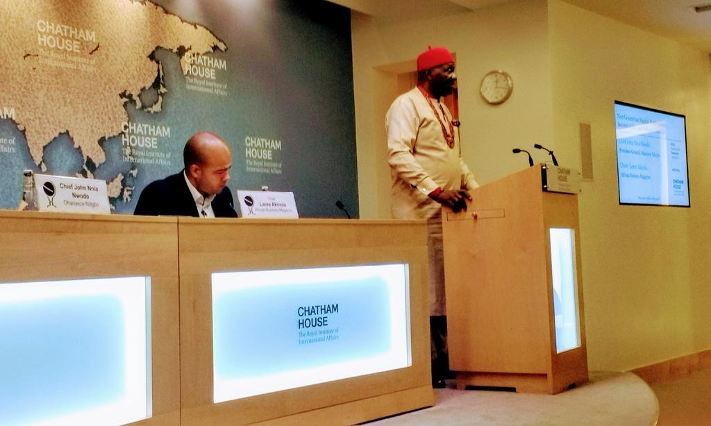 Ohanaeze President Gen John Nnia Nwodo's fiery speech at Chatham House, Wednesday Sept 27: Restructuring Nigeria: Decentralisation For National Cohesion