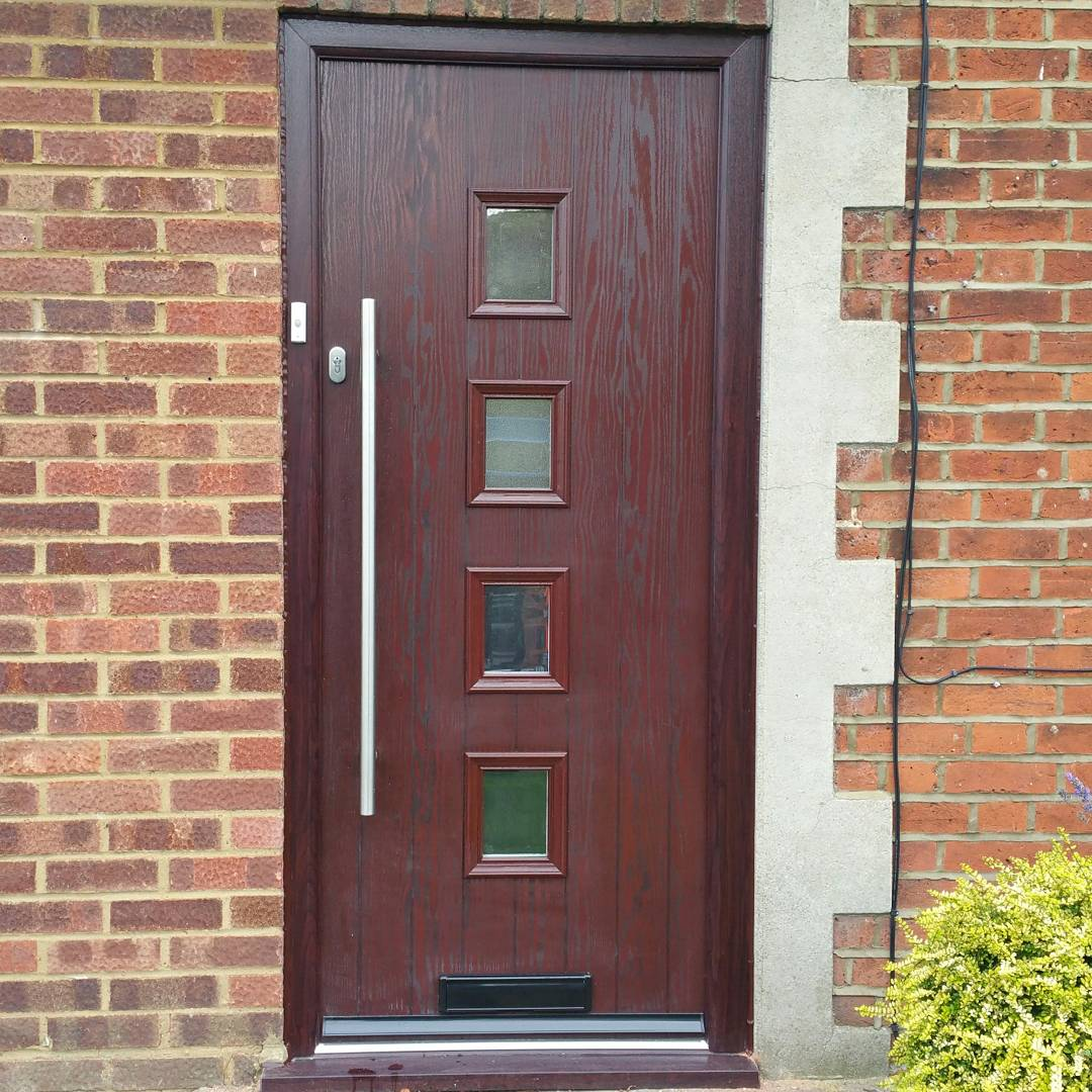 Dnk Services On Twitter New Rosewood Composite Door With Bar