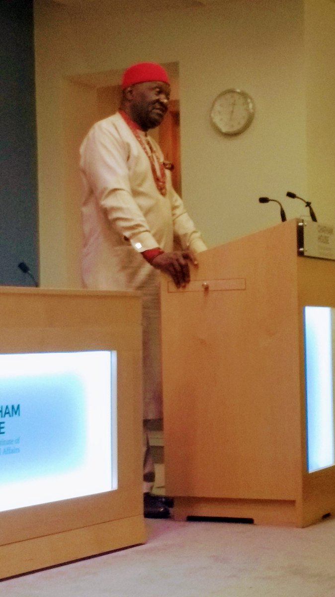 The President of Ohaneze Ndigbo, Chief John Nnia Nwodo is currently engaging Igbo stakeholders in a pre-conference forum in Chatham House, London.