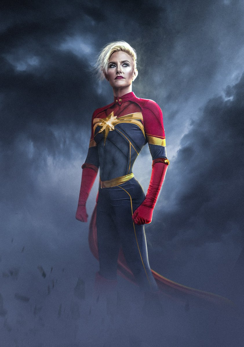 Bosslogic On Twitter Dope Pic Of Lee Ann Thompson In Her Captain Marvel Outfit So I Did A Quick Edit On It I Love Her Hair Hope The Movie Will Go Short