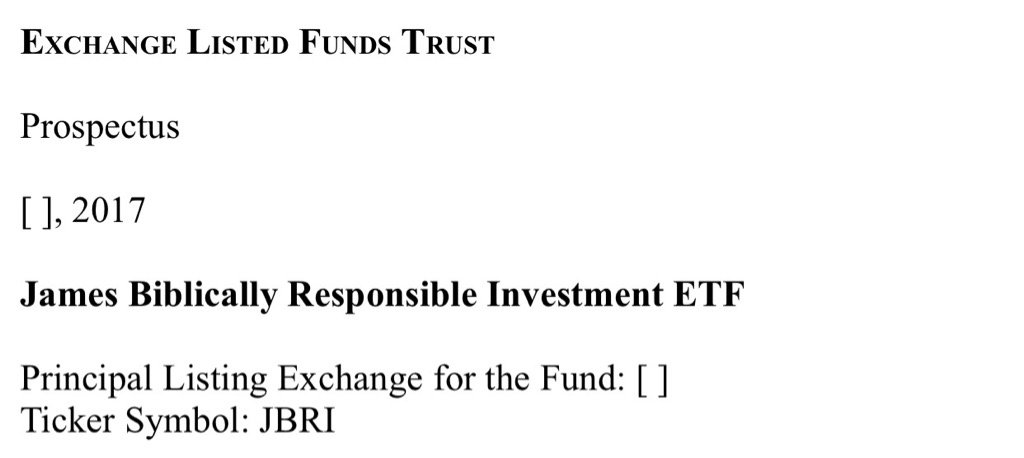 Eric Balchunas On Twitter New Filing For A Smart Beta Bible Etf