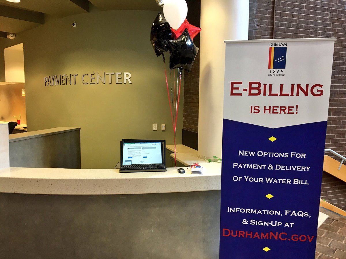 Cityofdurhamnc On Twitter Register Now For E Billing To Pay Your