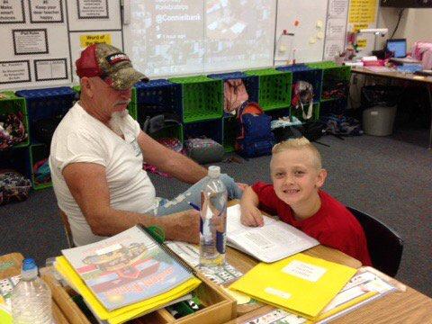 Another grandpop spending time in school. #FLDadsatschoolday #celebratelps