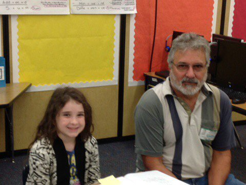 Grandpop spending time at school. #FLDadsatschoolday #celebratelps