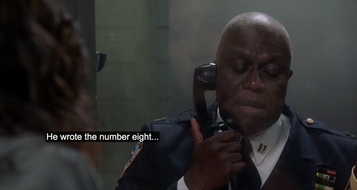 It must be a blast to write stuff like this and make Andre Braugher say it with his voice. https://t.co/E14I2ZFnh7