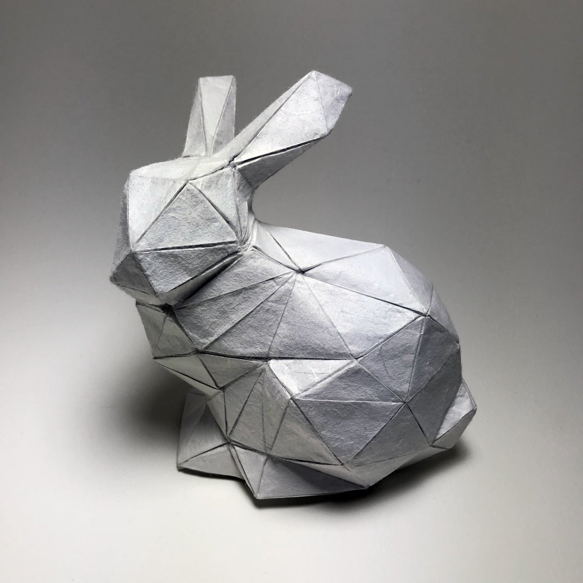Origami Stanford Bunny Designed With Blender Origamizer By Tomohiro Tachipictwitter A8S2OA4eov