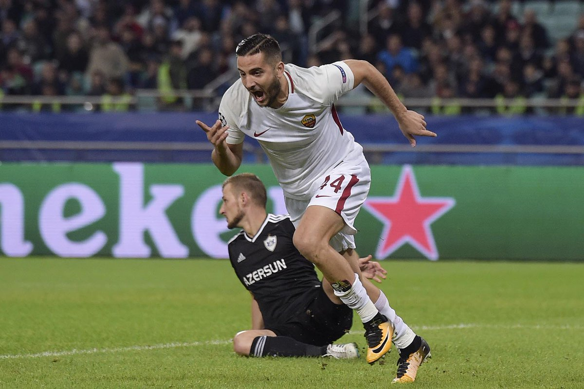 Qarabag 1-2 Roma Highlights