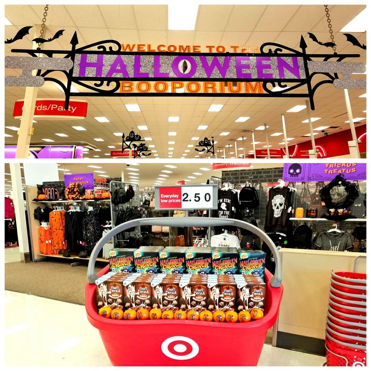 Getting Boo-tastic here at the League City Target  #SeasonallyRelevant #BigBaskets #Halloween #T2320ModelStore #D303 #G392 <br>http://pic.twitter.com/tj6HecVK88