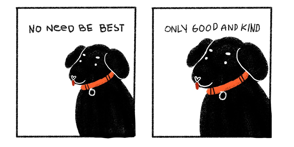 a msg from the dog who finally learned h...
