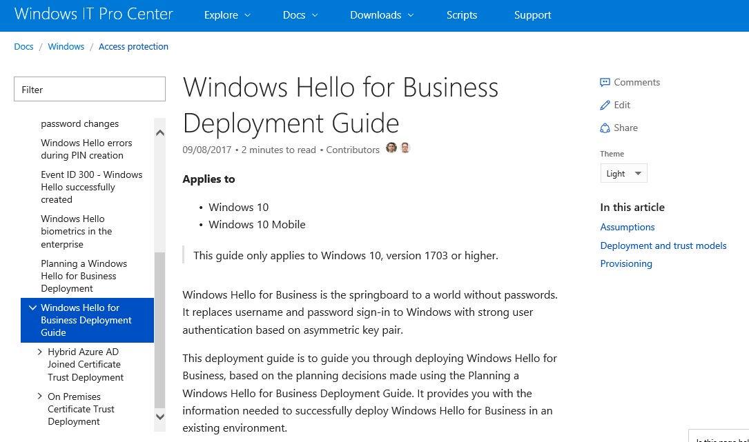 Step-by-step: deploying #WindowsHello for Business - hybrid or on-prem - #Windows10  https://t.co/8oggiUu1vm https://t.co/0QgNJiGzmN