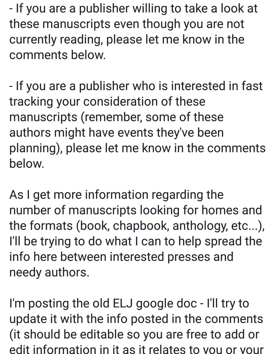 Poetry fam - we ve got some authors in need of some help (screenshots of my  FB post explain the situation). If you can help cbb11963b