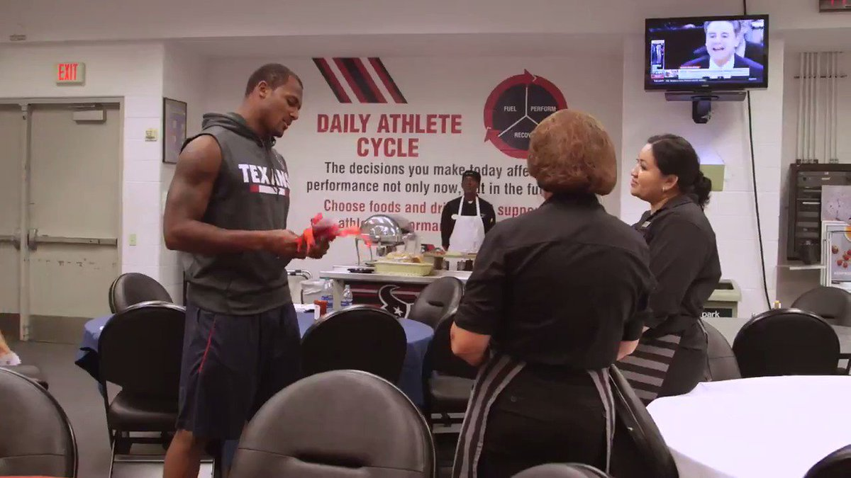 Rookie quarterback Deshaun Watson donated his first game check to stadium cafeteria workers who were affected by Hurricane Harvey