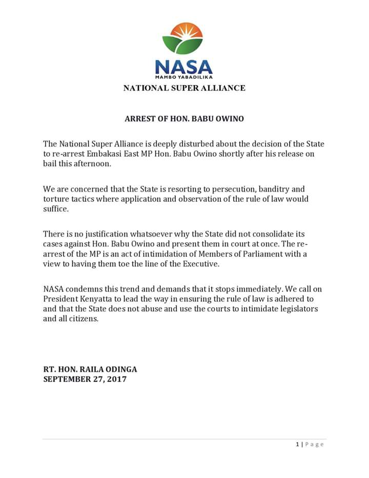 Raila Odinga on Twitter: