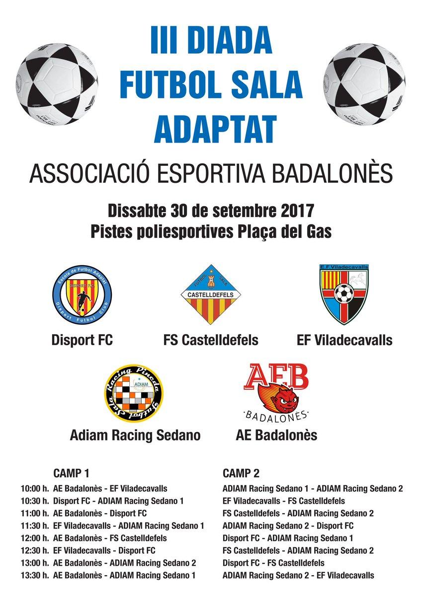 Cartel del III Torneo Amistoso de Futbol-Sala Adaptado para niñ@s con Parálisis Cerebral @DiariDiscapCat @DiarideBadalona @mariohermoso5
