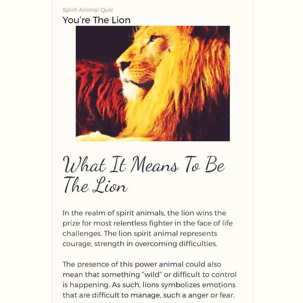Jason Lee Silby On Twitter If Lion Symbolizes Emotions Like Anger