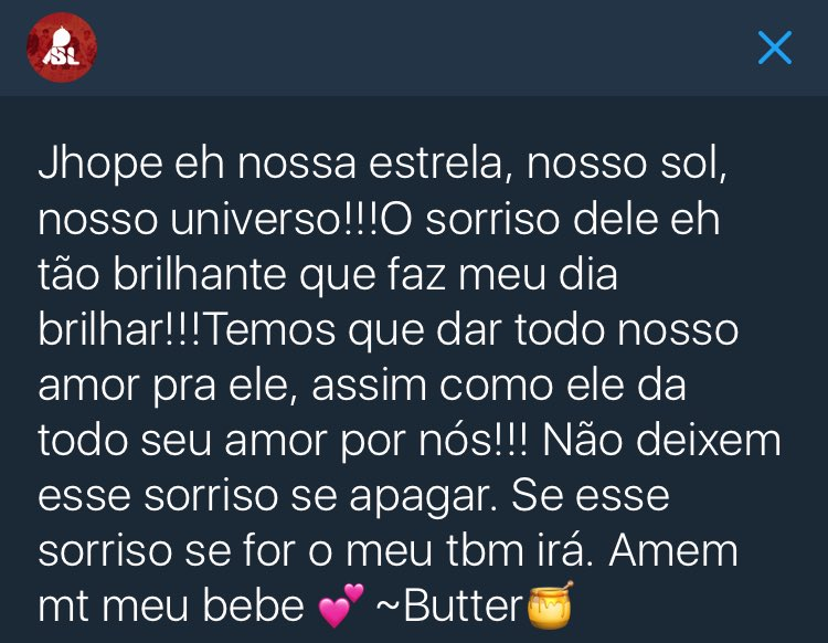 #LoveYourselfJhope   ~Fav se gostou ~Rt...