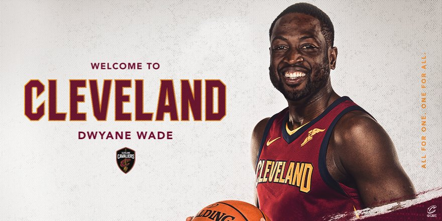Welcome to The Land, @DwyaneWade!  DETAILS: https://t.co/QlQd1lx0M7  #AllForOne https://t.co/iBUzSRyze0