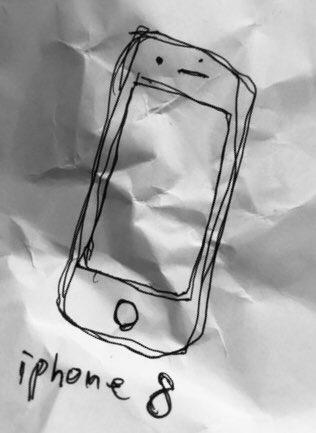 結局iPhone8Plusを買った。iPhone8はiPhone8自身の写真を撮ってアップ出来るところまでは進化してないらしい。仕方ない、最先端のスマホをその辺の紙とその辺のペンで伝える事にした。これで最先端の雰囲気が伝わると思う。