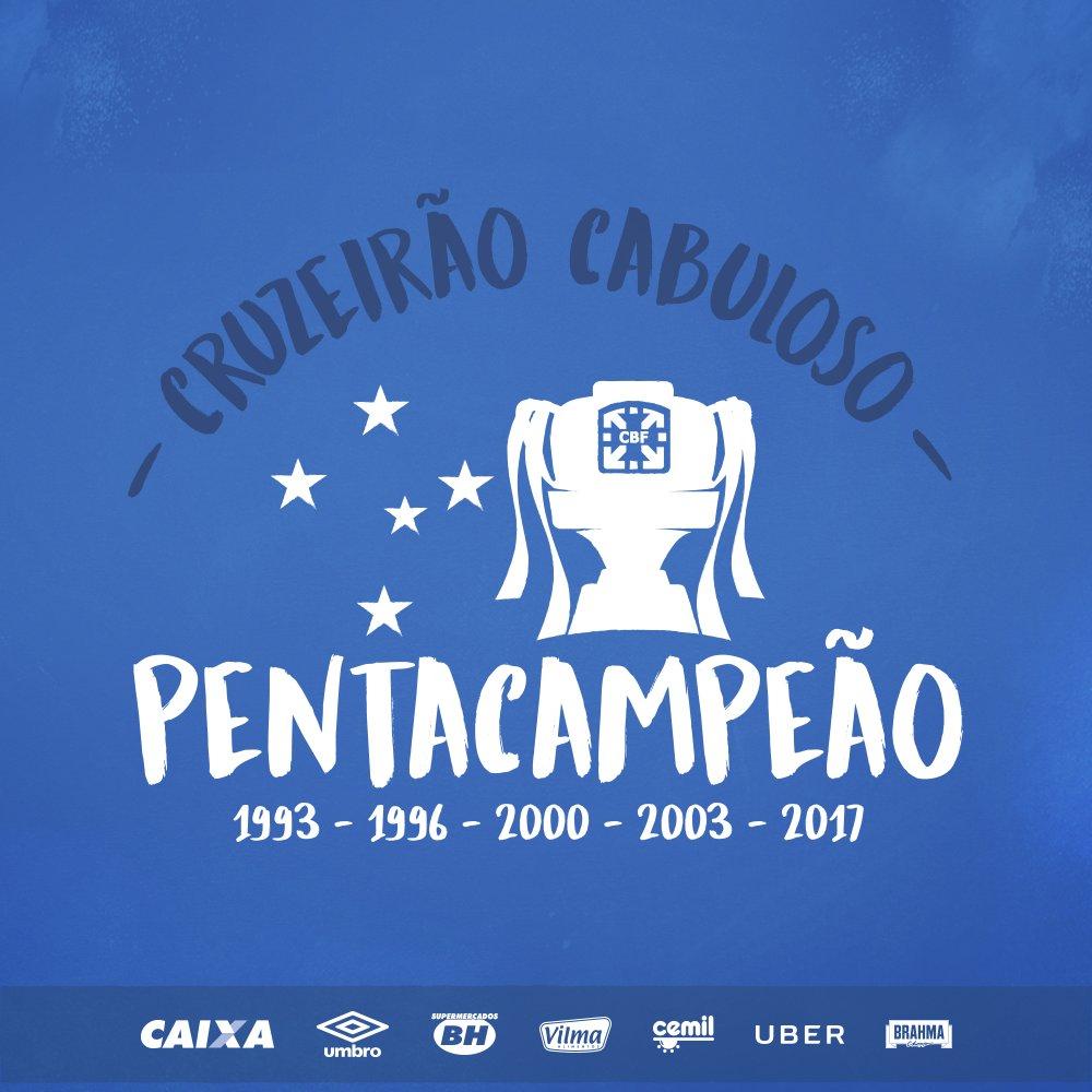 O #CRUZEIRO É PENTA, PENTA, PENTA CAMPEÃO DA COPA DO BRASIL!!!!